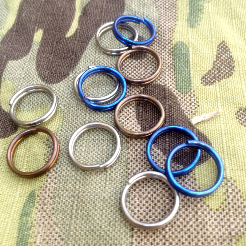 H877 Outdoor New EDC / Titanium TC4 / Keyring / Key Hang / Mini Horn / Key Hook / Circle / Rainbow Colour