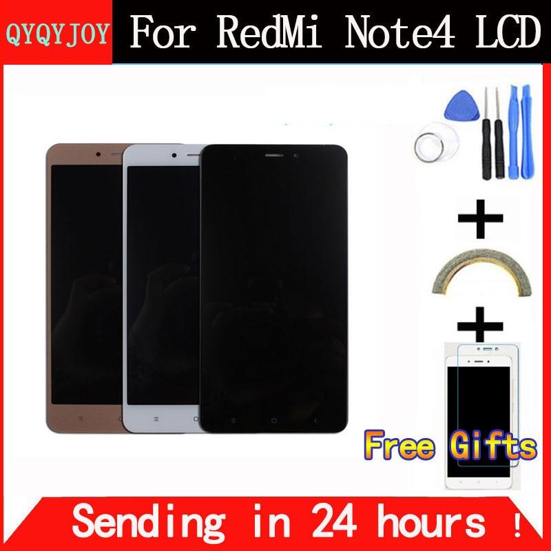 imágenes para QYQYJOY Pantalla LCD + Asamblea de Pantalla Táctil Digitalizador de Alta Calidad Para Xiaomi Hongmi Redmi Nota 4 Nota4 Teléfono Móvil Con Marco