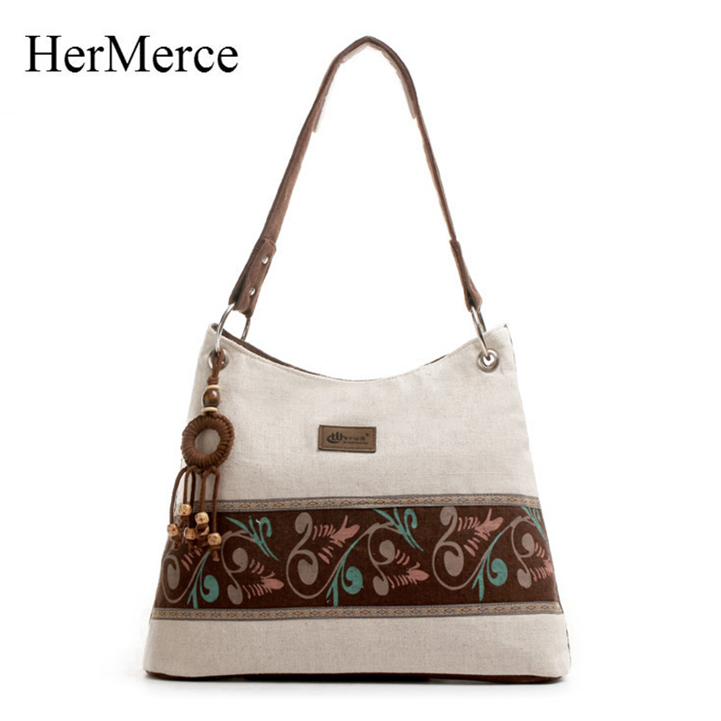 HerMerce New Summer Chinese Style Brand Ethnic Handbag Female Ladies Large Embroidery Bag Crossbody Bags for Women Messenger Bag hot fashion chinese style women handbag embroidery ethnic summer fashion handmade flowers ladies tote shoulder bags cross body