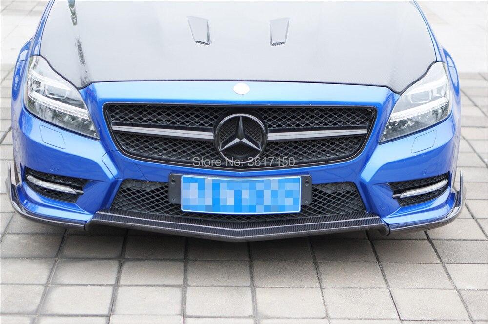 W218 Fiber De Carbone Avant Lip Spoiler Pour Classe CLS CLS350 De La RT Style (Fit Non AMG Ou Sport Pare-chocs)