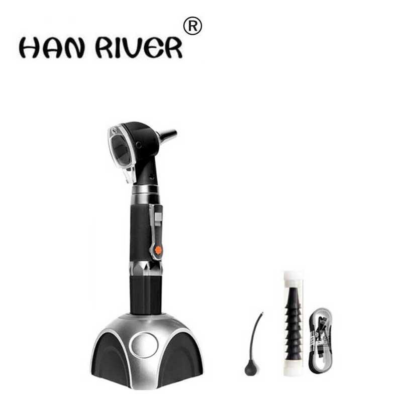 все цены на HANRIVER 2018 Ear care tool features check fiber ear endoscope electric otoscope professional household otoscope LED