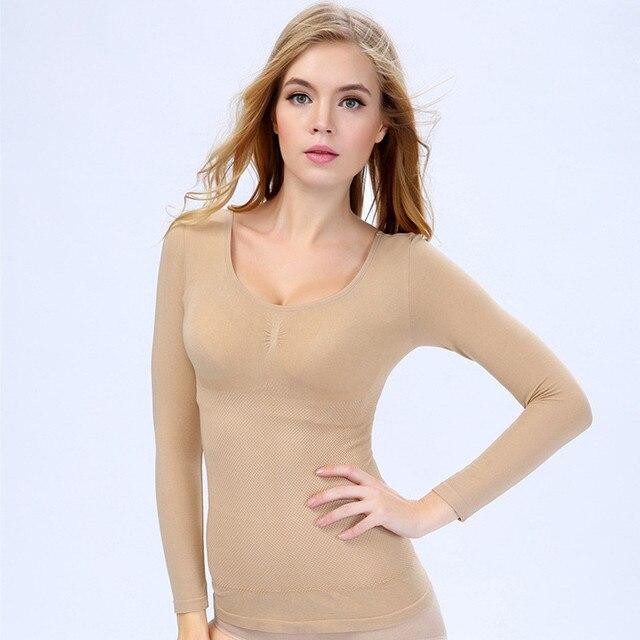 НОВОЕ ПРИБЫТИЕ живота желудка формирователь для женщин для похудения тела нижнее белье с длинным рукавом тепловой корсет тела faja reductora топы
