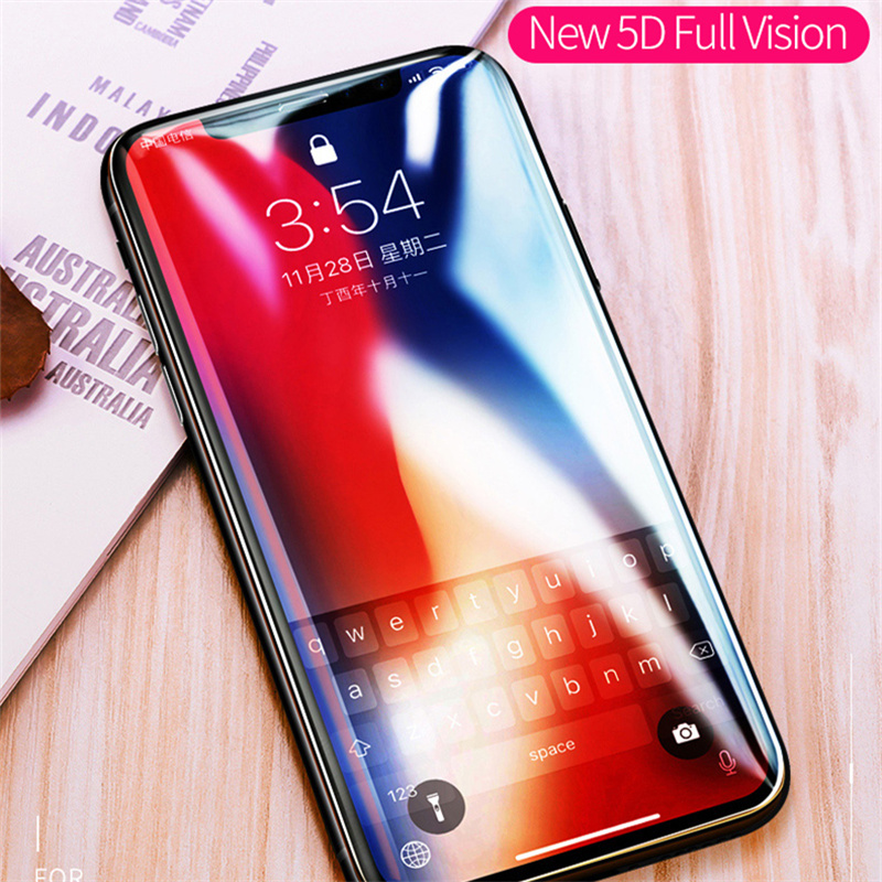 MSVII Screen Protector Tempered Glass For iPhone X 10 5D Glass Full Cover For iP