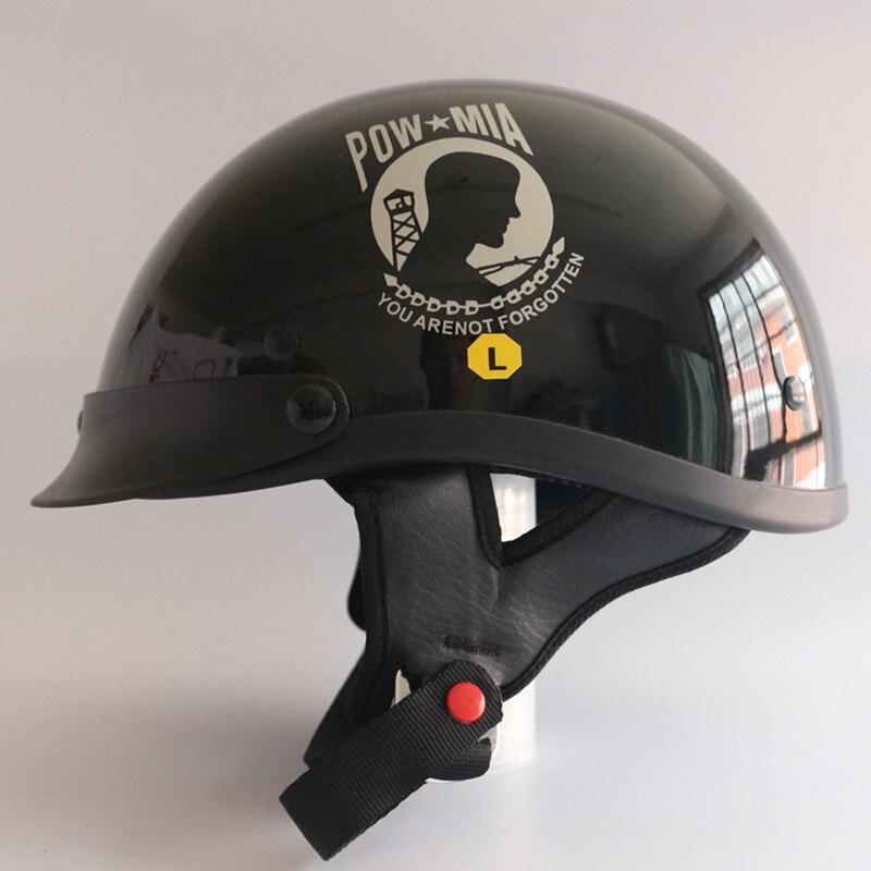 Motorcycle Helmets Dot >> Aliexpress.com : Buy 2017 POW MIA Half face motorcycle helmet vintage jet moto helmets harley ...