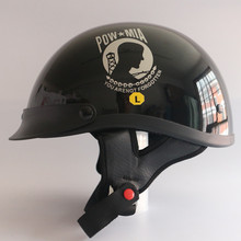 2017 военнопленных Mia Половина лица Moto rcycle Шлем Винтаж Jet Moto Harley шлемы открытым лицом Ретро Cruiser Chopper Moto rbike шлем Dot