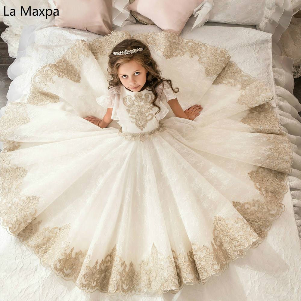 все цены на New Palace Retro Full Lace Voile Princess Dress Shawl Girls Flower Wedding Birthday Party Beautiful Casual Tutu Dress