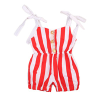 pudcoco Newest Arrivals Hot Newborn Toddler Infant Baby Girls Striped Lovely Halter Casual Romper Cute Jumpsuit Outfits Sunsuit