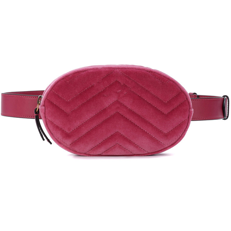 417156f4f69c US $14.2 21% OFF|waist bag women velour Waist fanny Pack bags luxury brand  fashion leather velvet belt handbag red blue black Women Waist Bags-in ...