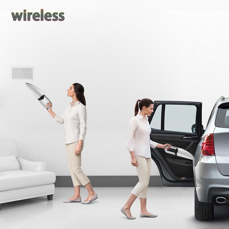 Wireless Hand Portable Vacuum Cleaner 75W Cordless Dust Aspiradora De Mano 220V Aspirateur Cleaner Sous Vide For Car Home