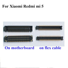 5 pcs 5 FPC conector Para Xiaomi Redmi tela lcd na motherboard mainboard/on flex cable Para Xiaomi redmi5 mi5(China)
