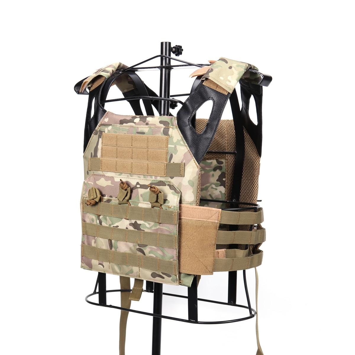 Armée militaire en plein air Airsoft Paintball Combat JPC tactique avant MOLLE plaque transporteur gilet poitrine Plate-forme Wargame accessoires de chasse