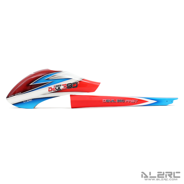 ALZRC - Devil 380 FAST RC Helicoter Parts Carbon Fiber Painting Canopy esspero canopy