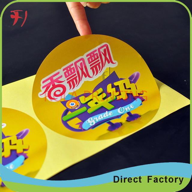 High quality adhesive custom stickers for food with best material