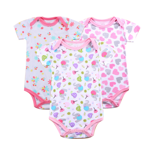 100% Cotton Baby Bodysuit 3pieces/lot Newborn Cotton Body Baby Short Sleeve Underwear Next Infant Girl Pajamas Clothes mother nest 3sets lot wholesale autumn toddle girl long sleeve baby clothing one piece boys baby pajamas infant clothes rompers