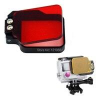 Go Pro accesorios Filtro de Corrección de Color Profesional de Buceo Bajo El Agua para GoPro Hero 4 héroe 3 + Rojo Envío Gratis