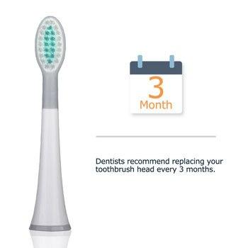 Набор сменных насадок для электрической зубной щетки Mornwell D01/D02, 4 шт. 6