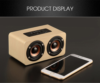 Wooden Wireless Bluetooth Speaker 5