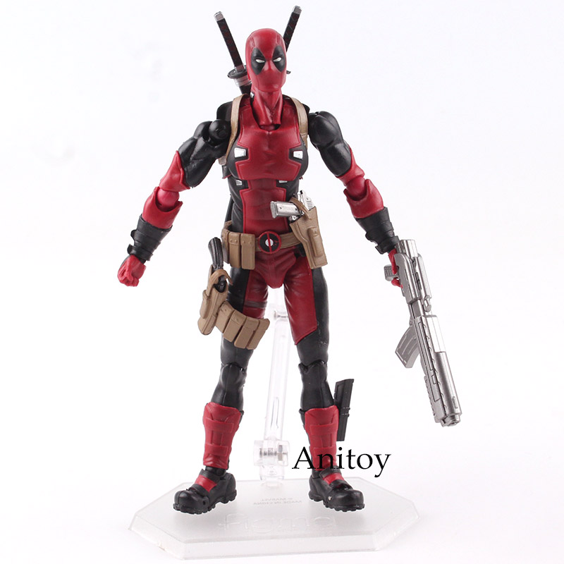 Figma Deadpool Action Figure EX-042 DX Ver. MAXFACTORYXMASAK APSY PVC Collectible Model Toy 14.5cm KT4792 14cm super sonico supersonico movable figma figma ex 023 pvc action figure collectible model toy children toy gift with box