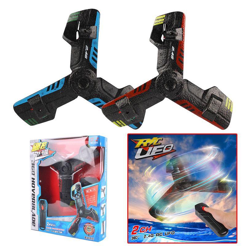 OVNI Boomerang avión creativo Mini Drone RC Quadcopter Control remoto juguete platillo volador recargable con luz Flash 2,4g