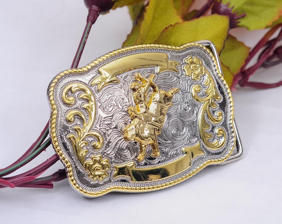 Bull Belt Buckle Western Cowboy Bronze Skull Long HIGH QUALITY rodeo men