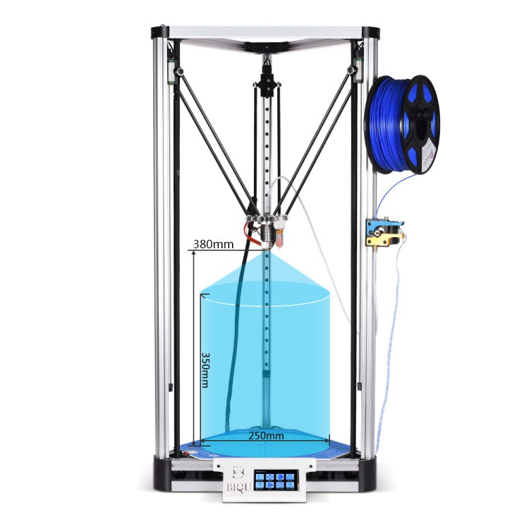 2017 NEW LCD Diy BIQU 3D Printer Kossel Plus Metal printer Auto-Level Reprap Prusa Quiet Delta 3D-Pri with Large Printing Size original anycubic 3d pinter kit kossel pulley heat power big size 3d printing metal printer fast shipping from moscow