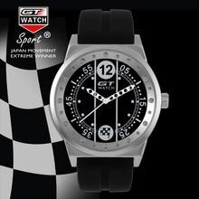 GT RELOJ de Piloto de Carreras Del Golfo Colección Carrera Militar Caja de Acero Inoxidable Relojes de Los Hombres Correa de Reloj de Silicona