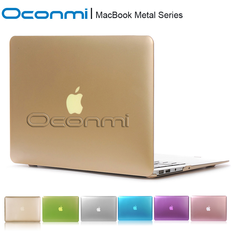 Metal Gold silver funda hard case for Apple Macbook Air Pro Retina 11 12 13 15 inch laptop bag sleeves for Macbook air 13 case