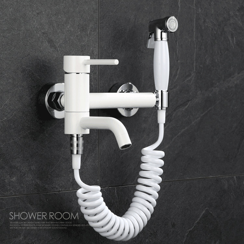 Cold and Hot Bathroom Toilet Jet Anal Douche Cleaner Portable Bidet Shower Spray Wall Mount Faucet Retractable Shower Hose 2m, цена и фото
