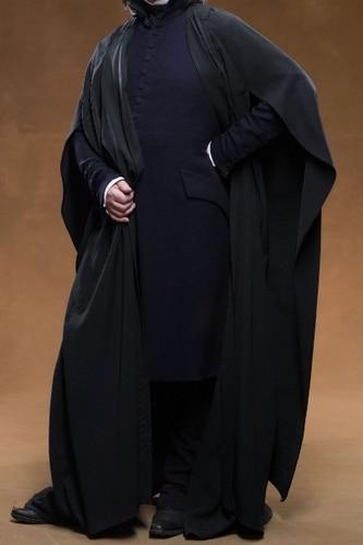 Profesor Severus Snape Cosplay Capa de la camisa de abrigo de Harry - Disfraces