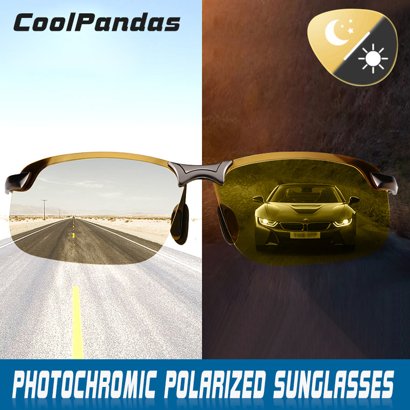 4961eb4e9cf Intelligent Photochromic Polarized Sunglasses Men Women Day Night Vision  Driving Sports Chameleon Discoloration Sun Glasses Men