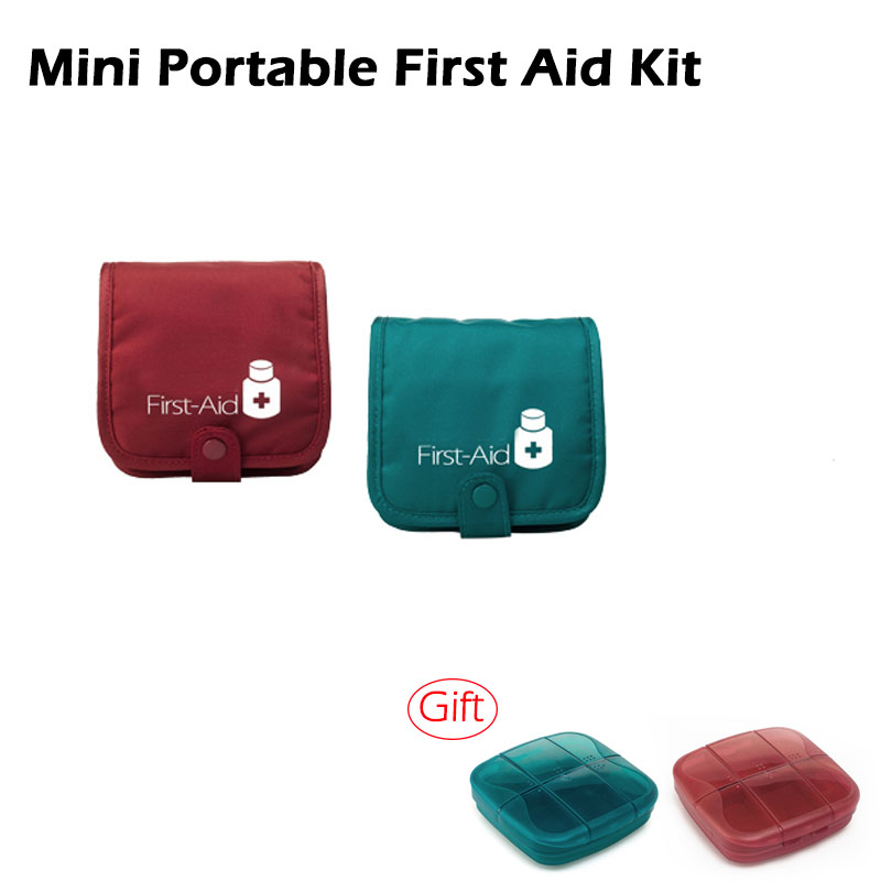 Outdoor Travel Portable Emergency Survival  First Aid Kit & Big Capacity Pill Box Multifunctional Relief Package Home Camping