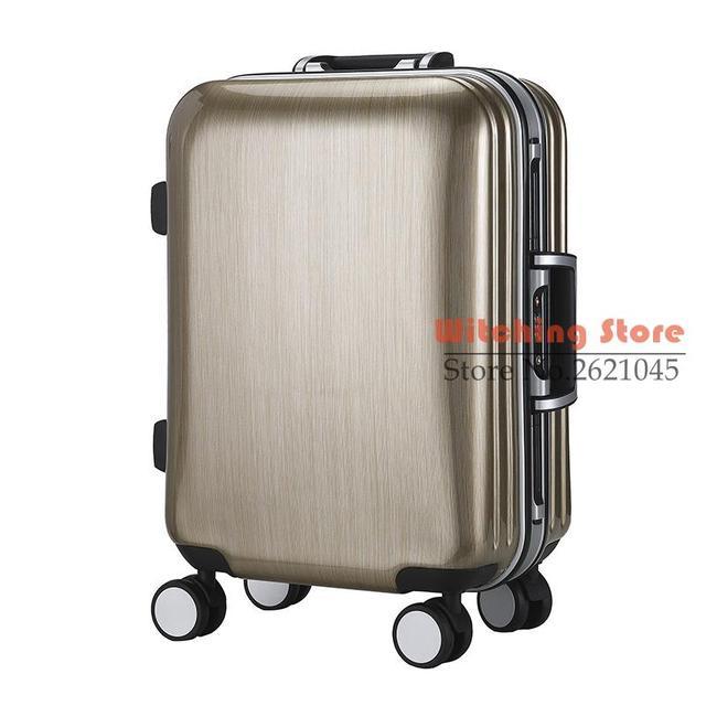 20 PULGADAS 20222529 # de Los Hombres y las mujeres son simples sólidos rueda de carro de equipaje caja de viaje antideslizante del todo-fósforo de alta calidad # EC ENVÍO GRATIS