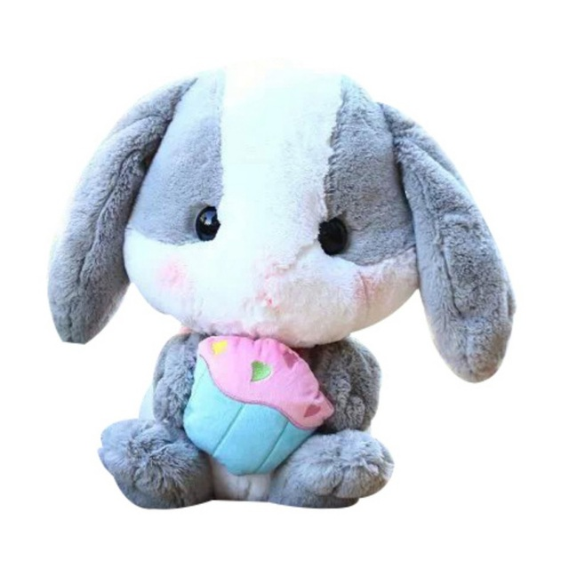 00924ba8f61 Fashion Baby Toys Lop-eared Rabbit Doll Soft Adorable White Rabbit Plush Toy  Can Be