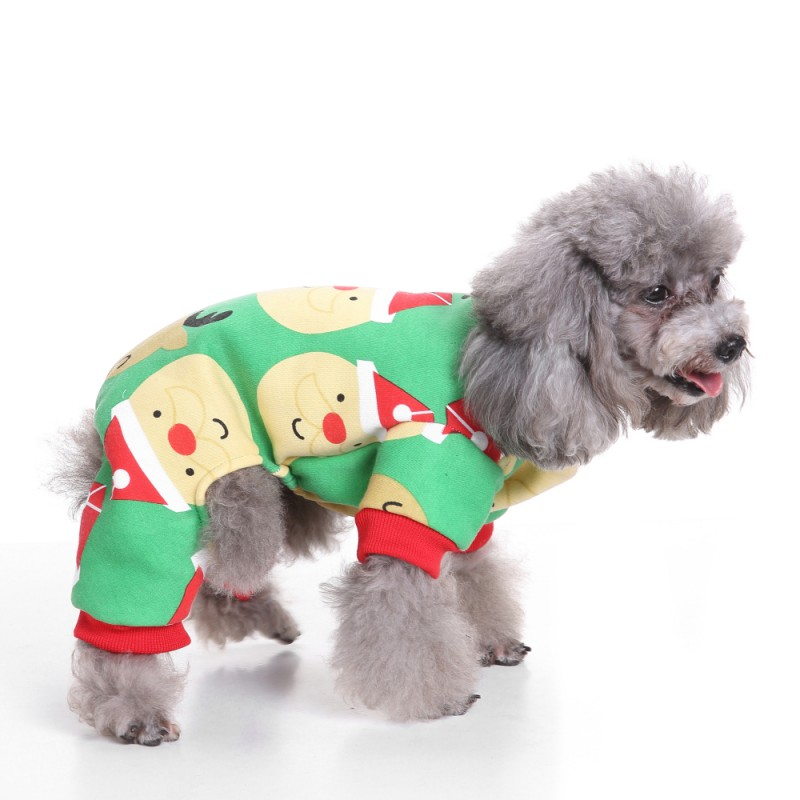 Cute Penguin Xmas Pet Clothes for Dog Pajamas Soft Christmas Santa Clause Snowman Pattern Clothes Warm For Puppy Pet Dogs New