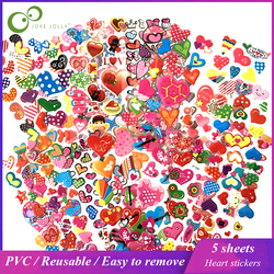 5 Sheets 3D Bubble Stickers Cartoon Love Heart Waterproof Stickers Educational Toys for Children Kids Girl Boy Gift GYH
