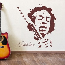 JIMMY HENDRIX Music Wall Art Vinyl Sticker Decal Mural Removable Home Decor Bedroom DIY M-176