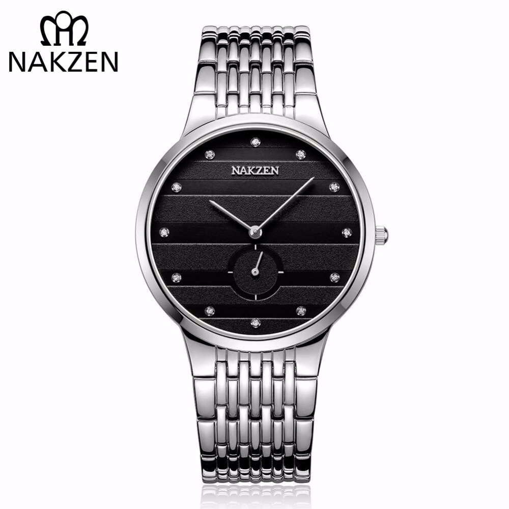 NAKZEN Diamond Men Quartz Watch Luxury Brand Sapphire Watches Mens Stainless Steel Wristwatch Male Clock Relogio Masculino nakzen diamond men watch luxury brand sapphire watches mens stainless steel black gold wristwatch male clock relogio masculino