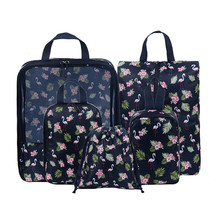 5Pcs/set Packing Cube Travel Bags Portable Waterproof Zipper Clothes Sorting Organizer Pou