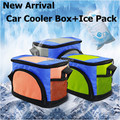 New Mini Car Refrigerator Bag Portable Fridge For Car Travel Car Cooler Box Dual Use Car Fridge Bag
