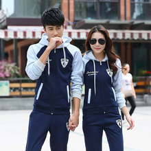 Autumn Long Sleeve Couple Outdoor Sport Hoodies Slim Breathable Sweater Suit Mens Plus Size Cotton Outwear Leisure Running Set