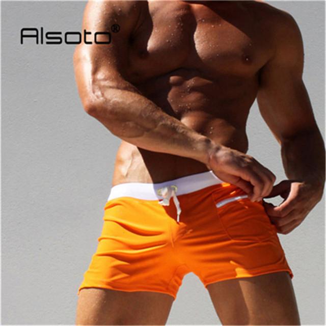 Summer Brand Men Swimwear Swimsuits Swimming Boxer Shorts Trunks Pocket Mens Swim Boxers Beach Surf Board Shorts Bathing Suit