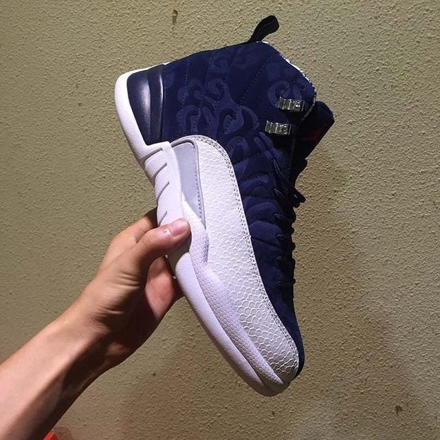 High Quality AJ 12 12s OVO White Gym Red Dark retro jordan Basketball Shoes  Men Women Taxi Blue Suede Flu Game Sneakers size 47 8dc9168a8