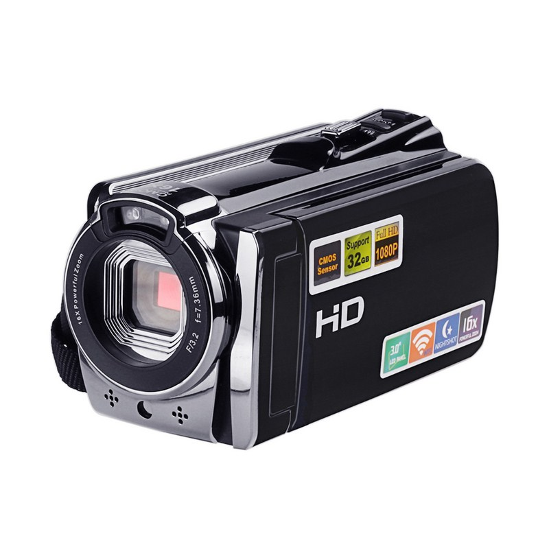 WIFI Camera Video Camcorder DV with Remote 16X Zoom HD IR Night Vision 3.0