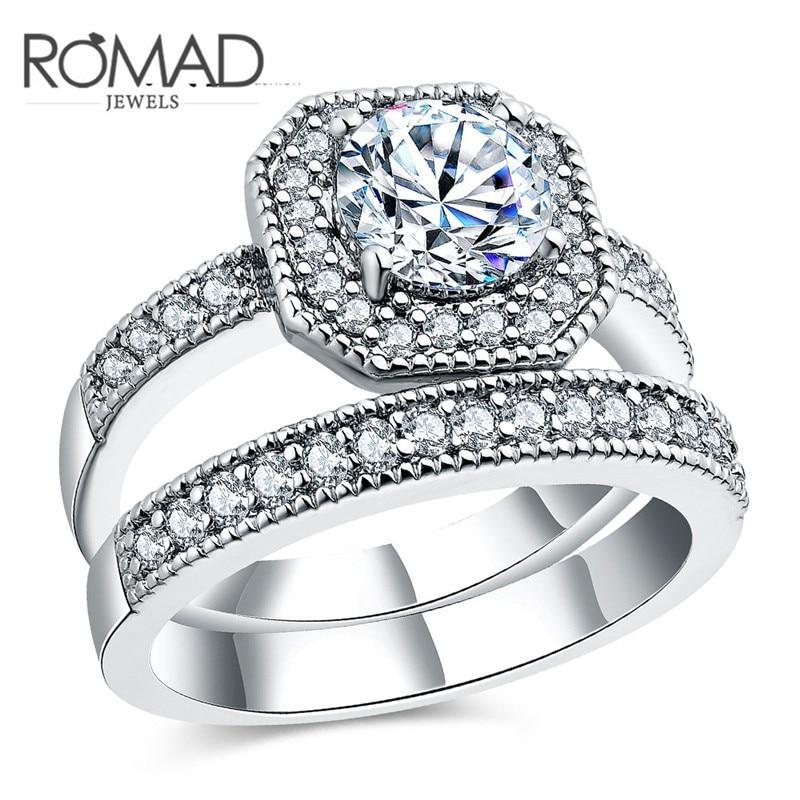 2017 ROMAD brand fashion Europe eight double ring men women wedding gift ring