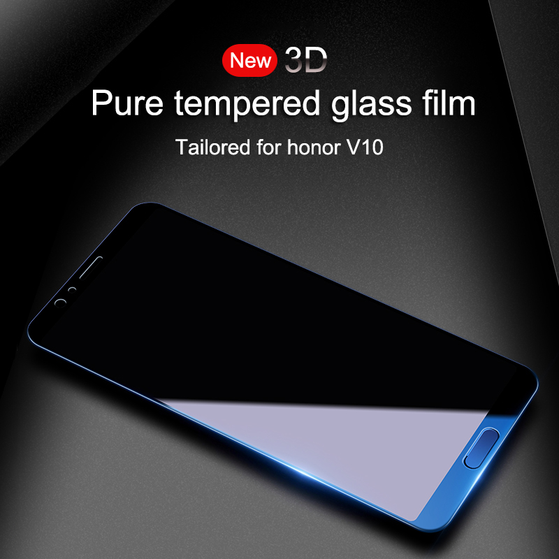 FHVUMX 3D Full Cover Tempered Glass For Huawei Honor 8 9 10 Lite V9 V10 High Quality Screen Protective Glass On Honor 9 10 Film