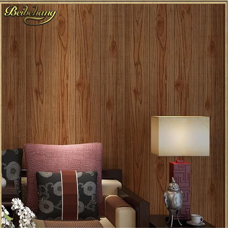 ᓂBeibehang papel de pared, papel pintado imitación madera Retro El ...