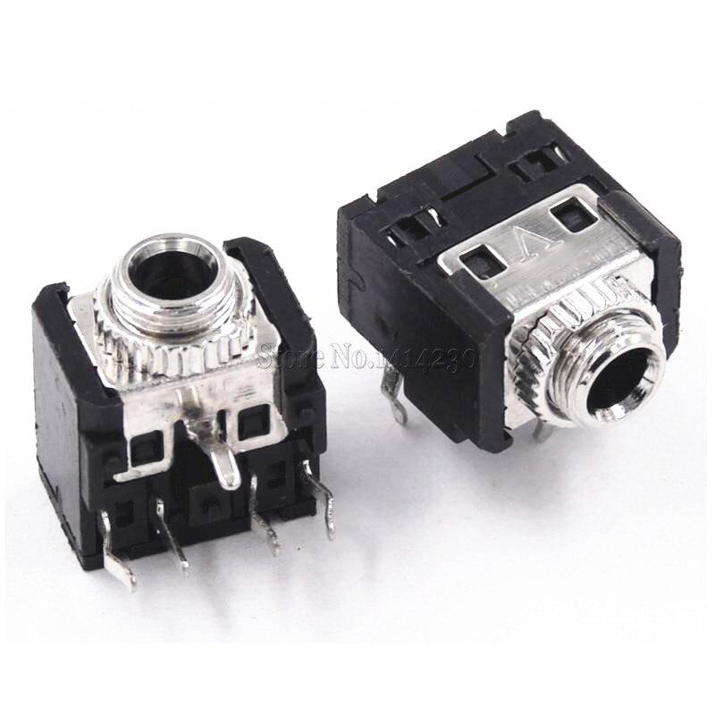 uxcell 3.5 mm Audio Jack Connector PCB Mount Female Socket 5 Pin PJ-328 15pcs