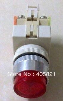LAY37-11DZ/ Y090-11DZ Self-locking Flush Pushbutton With Pilot lamp 1N/O+1N/C 22MM AC380V 220V110V /DC24V 12V 6V