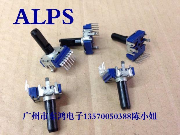2PCS/LOT ALPS RK14 type potentiometer, double B20K 18MM plastic shaft, 7 feet long2PCS/LOT ALPS RK14 type potentiometer, double B20K 18MM plastic shaft, 7 feet long