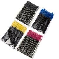 T2N2 200pcs Disposable Eyelash Eyebrow Brush Mascara Applicator Wand Spoolers Eyelash Comb Brushes Makeup Tool Set